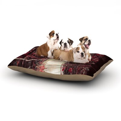 Ann Barnes Enchant Bridge Dog Pillow with Fleece Cozy Top Size: Large (50 W x 40 D x 8 H)