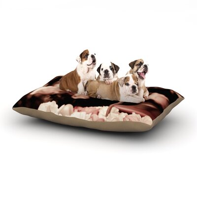 Ann Barnes Paris Flower Market Roses Dog Pillow with Fleece Cozy Top Size: Large (50 W x 40 D x 8 H)