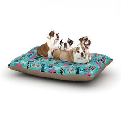 Allison Beilke My Kind of Chicago Dog Pillow with Fleece Cozy Top Size: Small (40 W x 30 D x 8 H)