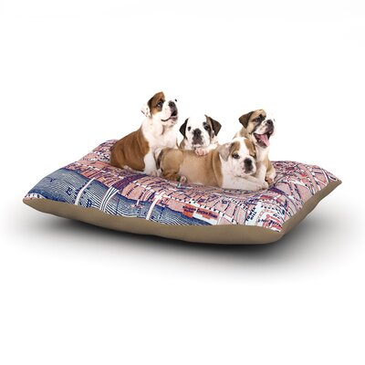 Alison Coxon City of London Map Dog Pillow with Fleece Cozy Top Size: Large (50 W x 40 D x 8 H)