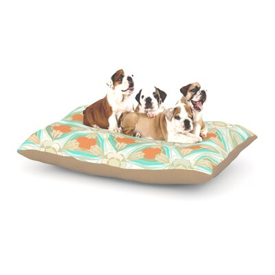 Alison Coxon Moorish Dog Pillow with Fleece Cozy Top Size: Large (50 W x 40 D x 8 H), Color: White/Teal