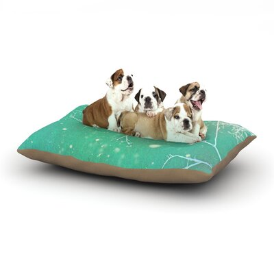 Alison Coxon White Branches Dog Pillow with Fleece Cozy Top Size: Small (40 W x 30 D x 8 H)