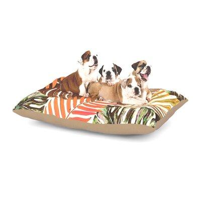 Alison Coxon Jungle Rust Dog Pillow with Fleece Cozy Top