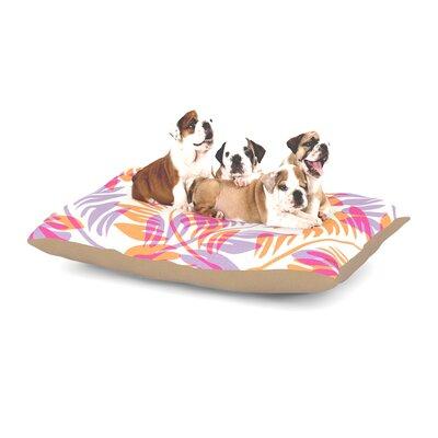 Alison Coxon Summer Fern Dog Pillow with Fleece Cozy Top