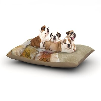 Ancello Abstract Dog Geometric Dog Pillow with Fleece Cozy Top Size: Small (40 W x 30 D x 8 H)