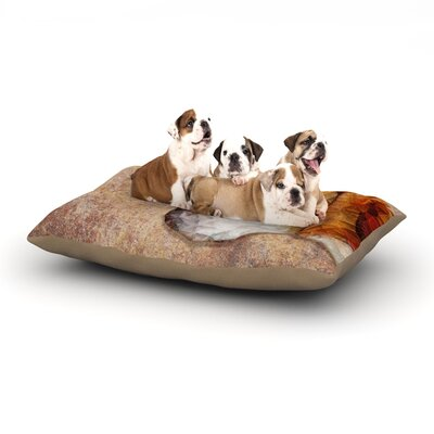 Ancello Abstract Beagle Geometric Dog Pillow with Fleece Cozy Top Size: Small (40 W x 30 D x 8 H)