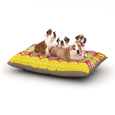 Amanda Lane Bohemia Dog Pillow with Fleece Cozy Top Size: Small (40 W x 30 D x 8 H)