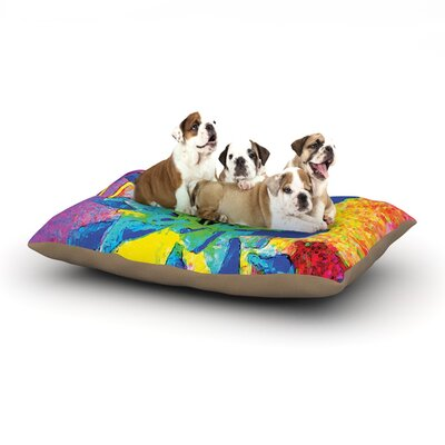 Anne LaBrie Wild Lotus Flower Dog Pillow with Fleece Cozy Top Size: Small (40 W x 30 D x 8 H)
