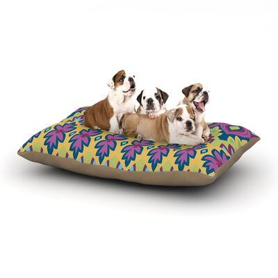 Amanda Lane Boho Chic Dog Pillow with Fleece Cozy Top Size: Small (40 W x 30 D x 8 H)