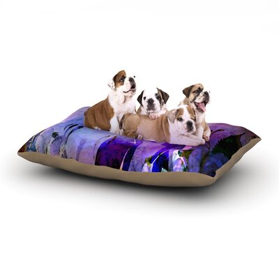alyZen Moonshadow Couple in Love Dog Pillow with Fleece Cozy Top Size: Small (40 W x 30 D x 8 H)