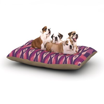 Amanda Lane Purple Ikat Dog Pillow with Fleece Cozy Top Size: Large (50 W x 40 D x 8 H)