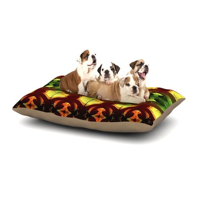 Anne LaBrie Tribal Marsala Dog Pillow with Fleece Cozy Top Size: Small (40 W x 30 D x 8 H)