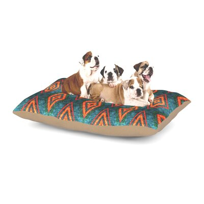 Anne LaBrie Diamond Sea Dog Pillow with Fleece Cozy Top Size: Large (50 W x 40 D x 8 H)
