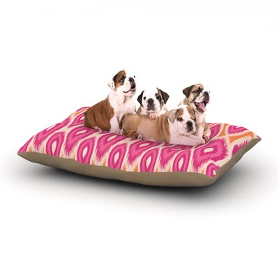 Amanda Lane Pink and Orange Moroccan Magentagerine Dog Pillow with Fleece Cozy Top Size: Small (40 W x 30 D x 8 H)