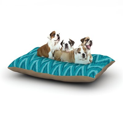 Amanda Lane Island Blue Dog Pillow with Fleece Cozy Top Size: Large (50 W x 40 D x 8 H)