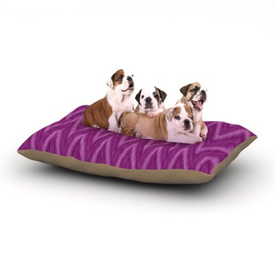 Amanda Lane Plum Purple Chevron Fuschia Dog Pillow with Fleece Cozy Top Size: Small (40 W x 30 D x 8 H)