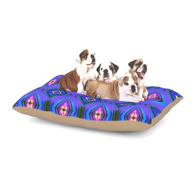 Anne LaBrie Dark Diamond Dog Pillow with Fleece Cozy Top Size: Small (40 W x 30 D x 8 H)