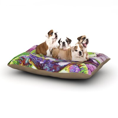 alyZen Moonshadow Mad Hatters T-Party II Dog Pillow with Fleece Cozy Top Size: Large (50 W x 40 D x 8 H)