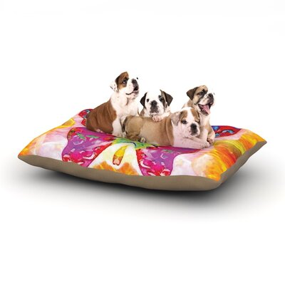 Anne LaBrie Butterfly Spirit Dog Pillow with Fleece Cozy Top Size: Small (40 W x 30 D x 8 H)