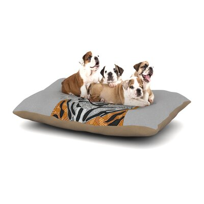 Art Love Passion Tiger Dog Pillow with Fleece Cozy Top Size: Large (50 W x 40 D x 8 H)
