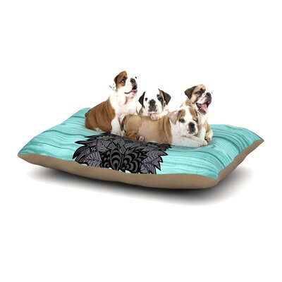Art Love Passion Little Miss Daisy Dog Pillow with Fleece Cozy Top Size: Large (50 W x 40 D x 8 H)