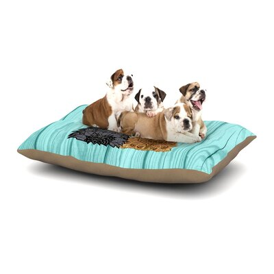 Art Love Passion Daisy and Gatsby Abstract Puppies Dog Pillow with Fleece Cozy Top Size: Large (50 W x 40 D x 8 H)
