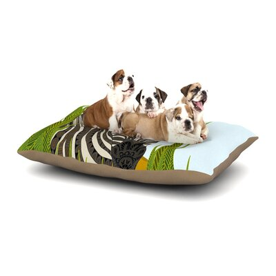 Art Love Passion Zebra Dog Pillow with Fleece Cozy Top Size: Large (50 W x 40 D x 8 H)