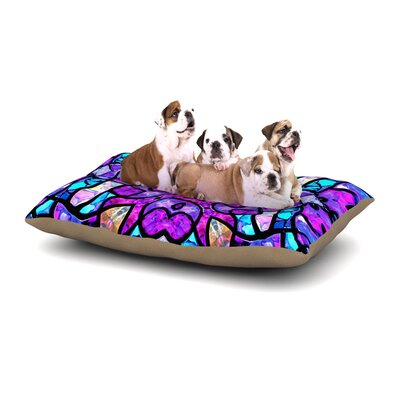 Art Love Passion Kaleidoscope Dream Dog Pillow with Fleece Cozy Top Size: Small (40 W x 30 D x 8 H)