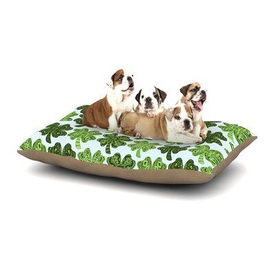 Art Love Passion Lucky You Shamrock Dog Pillow with Fleece Cozy Top Size: Large (50 W x 40 D x 8 H)