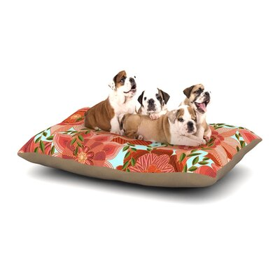 Art Love Passion Flower Power Floral Dog Pillow with Fleece Cozy Top Size: Small (40 W x 30 D x 8 H)