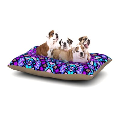 Art Love Passion Kaleidoscope Dream Continued Dog Pillow with Fleece Cozy Top Size: Large (50 W x 40 D x 8 H)