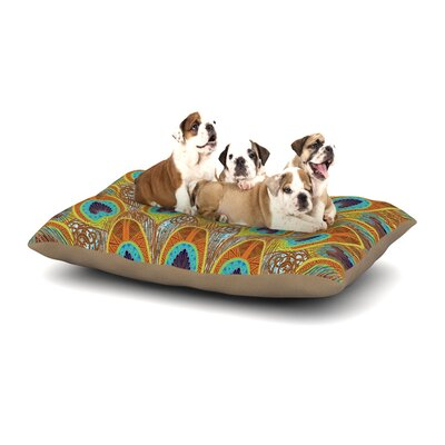 Art Love Passion Peacock Dog Pillow with Fleece Cozy Top Size: Small (40 W x 30 D x 8 H)