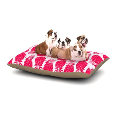 Anchobee Pinya Dog Pillow with Fleece Cozy Top Size: Small (40 W x 30 D x 8 H), Color: Pink