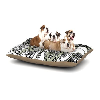 Anchobee Doodle Dos Dog Pillow with Fleece Cozy Top Size: Small (40 W x 30 D x 8 H)