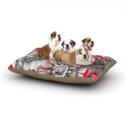 Anchobee Cardinal Dog Pillow with Fleece Cozy Top Size: Small (40 W x 30 D x 8 H)
