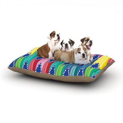 Anneline Sophia Blanket Tribal Dog Pillow with Fleece Cozy Top Size: Large (50 W x 40 D x 8 H)