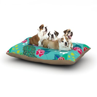 Anneline Sophia Mexican Peacock Dog Pillow with Fleece Cozy Top Size: Small (40 W x 30 D x 8 H)