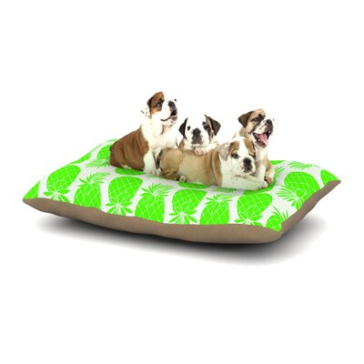 Anchobee Pinya Dog Pillow with Fleece Cozy Top Size: Small (40 W x 30 D x 8 H), Color: Neon Green