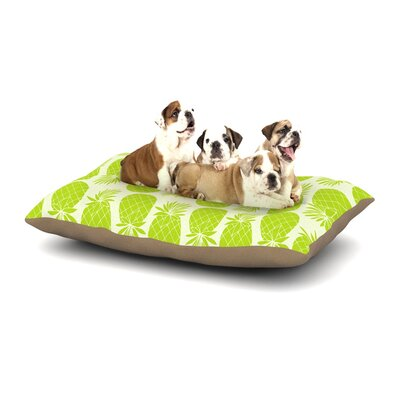 Anchobee Pinya Dog Pillow with Fleece Cozy Top Size: Small (40 W x 30 D x 8 H), Color: Lime/Green
