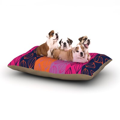 Anneline Sophia Tropical Seeds Dog Pillow with Fleece Cozy Top Size: Large (50 W x 40 D x 8 H)