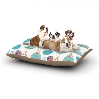 Anneline Sophia Vintage Baubles Seasonal Dog Pillow with Fleece Cozy Top Size: Small (40 W x 30 D x 8 H)