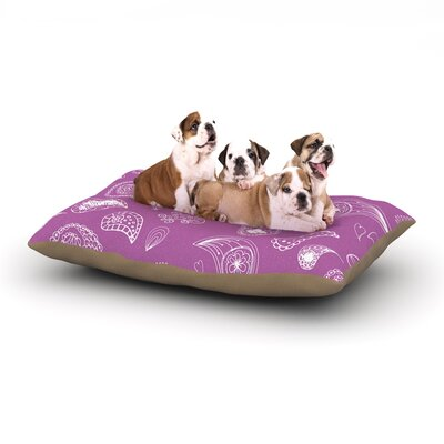 Anneline Sophia Tropical Paisley Dog Pillow with Fleece Cozy Top Size: Large (50 W x 40 D x 8 H)
