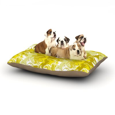 Anneline Sophia Marbleized Dog Pillow with Fleece Cozy Top Size: Small (40 W x 30 D x 8 H), Color: Gold/Yellow