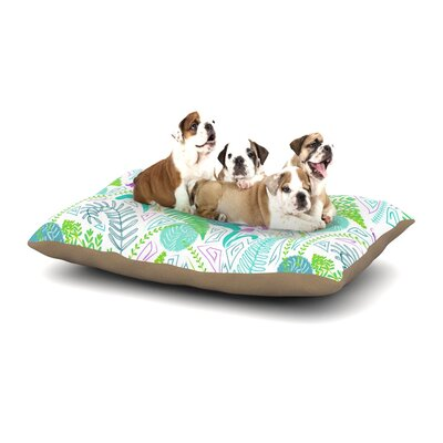 Anneline Sophia Fern Forest Dog Pillow with Fleece Cozy Top Size: Large (50 W x 40 D x 8 H)