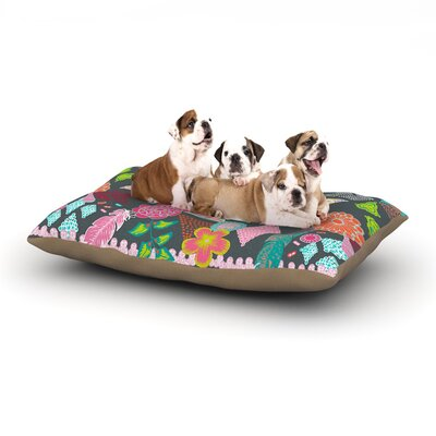 Anneline Sophia Aztec Boho Tropical Dog Pillow with Fleece Cozy Top Size: Small (40 W x 30 D x 8 H)