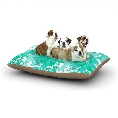 Anneline Sophia Marbleized Dog Pillow with Fleece Cozy Top Size: Large (50 W x 40 D x 8 H), Color: Teal/Aqua