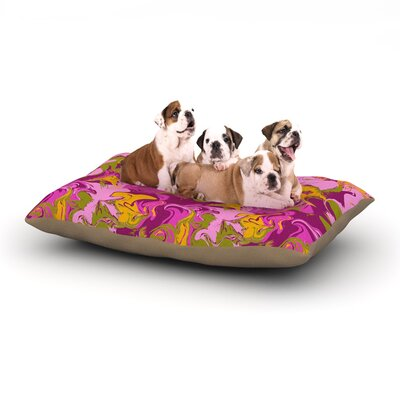 Anneline Sophia Marbleized Dog Pillow with Fleece Cozy Top Size: Small (40 W x 30 D x 8 H), Color: Pink/Purple