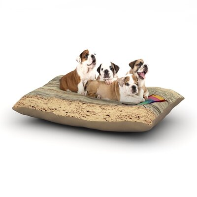 Angie Turner Beach Chair Sandy Beach Dog Pillow with Fleece Cozy Top Size: Large (50 W x 40 D x 8 H)