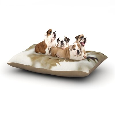 Angie Turner Flowering Pear Petals Dog Pillow with Fleece Cozy Top Size: Large (50 W x 40 D x 8 H)