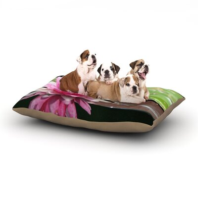 Angie Turner Water Lily Dog Pillow with Fleece Cozy Top Size: Large (50 W x 40 D x 8 H)